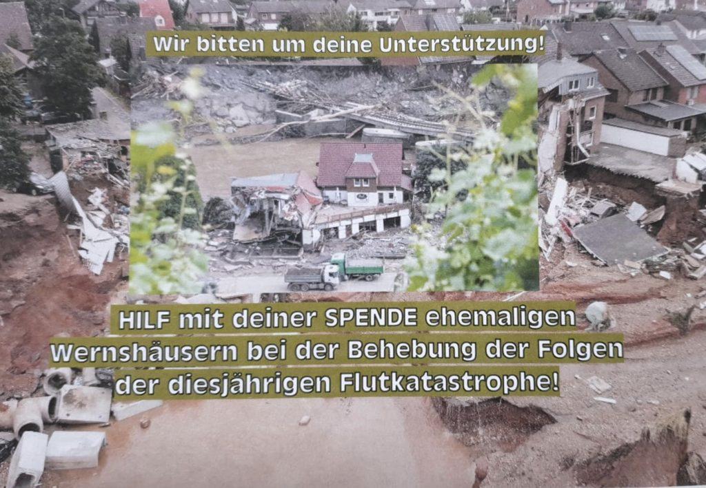 Spendenaktion für Wernshäuser Flutopfer